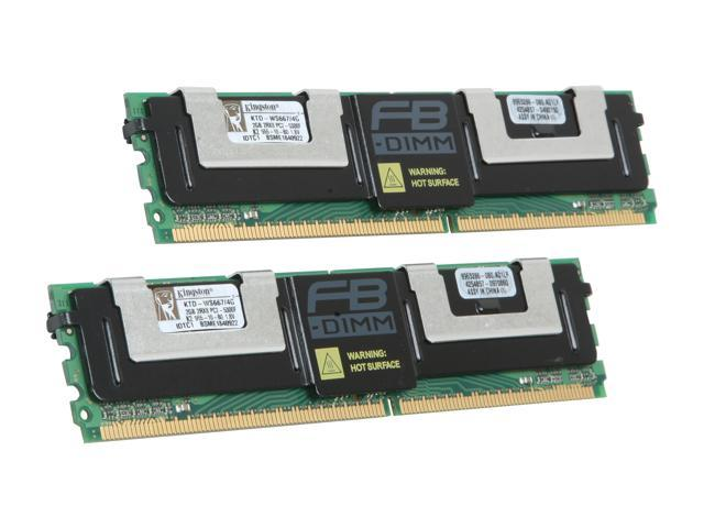 Kingston 4GB (2 x 2GB) 240-Pin DDR2 SDRAM DDR2 667 (PC2 5300) ECC Registered System Specific Memory Model KTD-WS667/4G