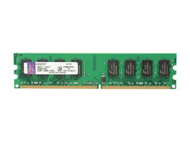 Kingston ValueRAM 2GB 240-Pin DDR2 SDRAM DDR2 800 (PC2 6400) Desktop Memory Model KVR800D2N6/2G