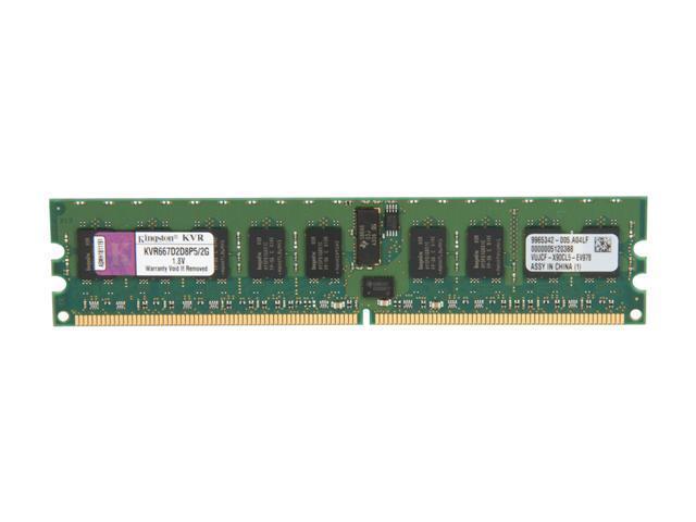 Kingston ValueRAM 2GB 240-Pin DDR2 SDRAM ECC Registered DDR2 667 (PC2 5300) Server Memory Model KVR667D2D8P5/2G