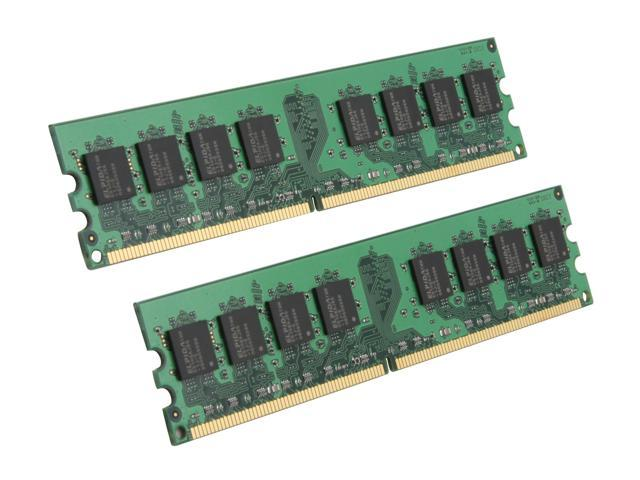 Kingston ValueRAM 2GB (2 x 1GB) 240-Pin DDR2 SDRAM DDR2 1066 (PC2 8500) Dual Channel Kit Desktop Memory Model KVR1066D2N7K2/2G