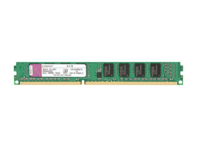 Kingston ValueRAM 1GB 240-Pin DDR3 SDRAM DDR3 1333 (PC3 10600) Desktop Memory Model KVR1333D3N9/1G