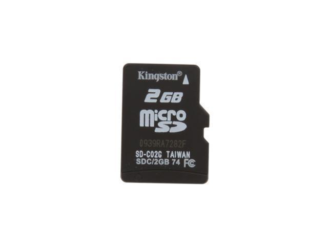 Kingston 2GB MicroSD Flash Card Single Pack - Card Only Model SDC/2GBSP