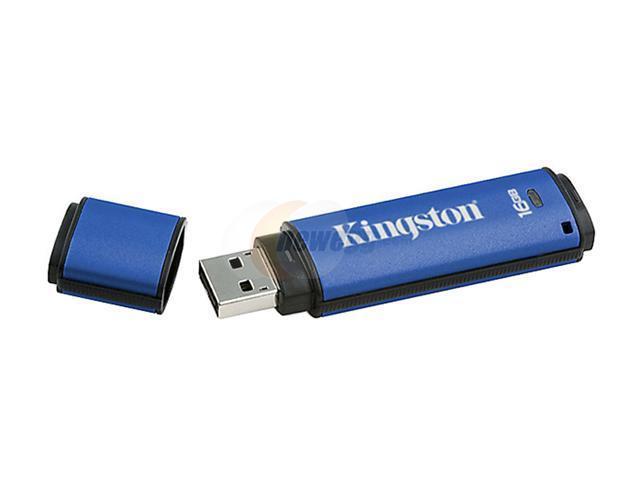 Kingston DataTraveler Vault 16GB Flash Drive (USB2.0 Portable) 256bit AES Encryption Model DTV/16GB