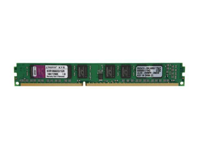 Kingston 1GB 240-Pin DDR3 SDRAM DDR3 1066 (PC3 8500) Desktop Memory Model KVR1066D3/1GR