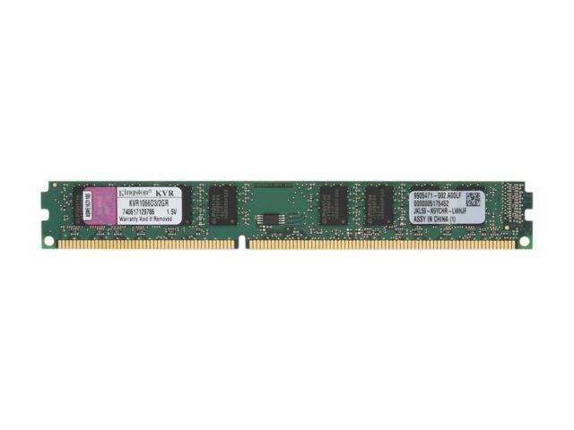 Kingston ValueRAM 2GB 240-Pin DDR3 SDRAM DDR3 1066 (PC3 8500) Desktop Memory Model KVR1066D3/2GR