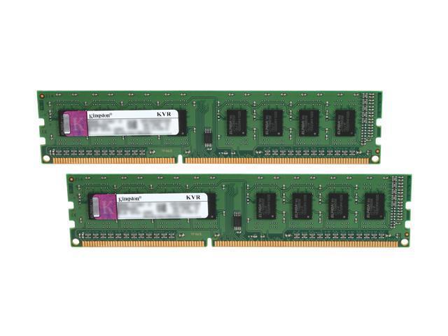 Kingston 2GB (2 x 1GB) 240-Pin DDR3 SDRAM DDR3 1333 (PC3 10600) Dual Channel Kit Desktop Memory Model KVR1333D3K2/2GR