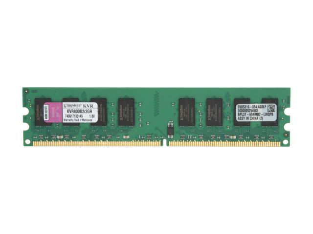 Kingston 2GB 240-Pin DDR2 SDRAM DDR2 800 (PC2 6400) Desktop Memory Model KVR800D2/2GR