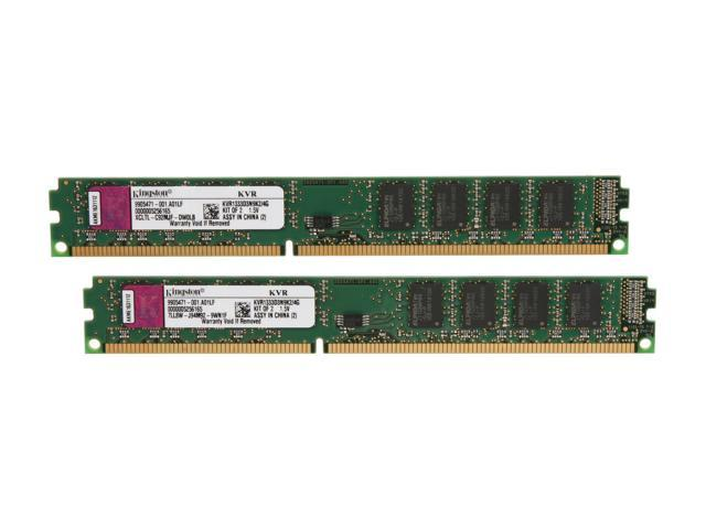 Kingston ValueRAM 4GB (2 x 2GB) 240-Pin DDR3 SDRAM DDR3 1333 (PC3 10600) Desktop Memory Model KVR1333D3N9K2/4G
