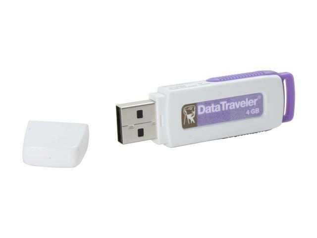 Kingston DataTraveler 4GB Flash Drive (USB2.0 Portable) W/ E-Tail clamshell - OEM