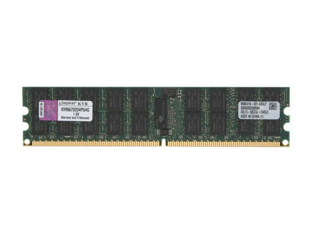 Kingston ValueRAM 4GB 240-Pin DDR2 SDRAM ECC Registered DDR2 667 (PC2 5300) Server Memory Model KVR667D2D4P5/4G