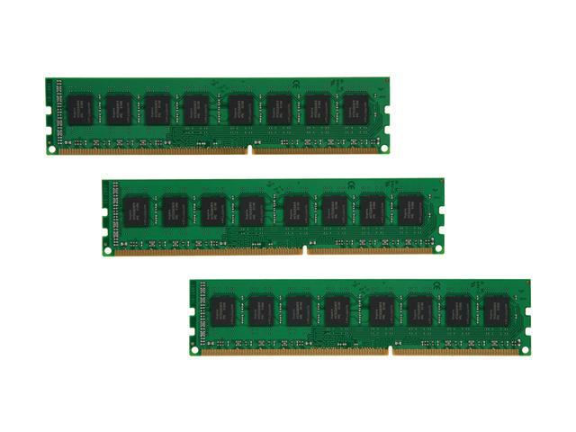 Kingston 12GB (3 x 4GB) 240-Pin DDR3 SDRAM DDR3 1066 (PC3 8500) Desktop Memory Model KVR1066D3N7K3/12G