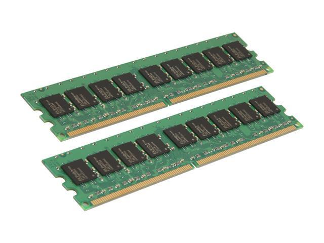 Kingston ValueRAM 4GB (2 x 2GB) 240-Pin DDR2 SDRAM ECC Unbuffered DDR2 667 (PC2 5300) Server Memory Model KVR667D2E5K2/4G
