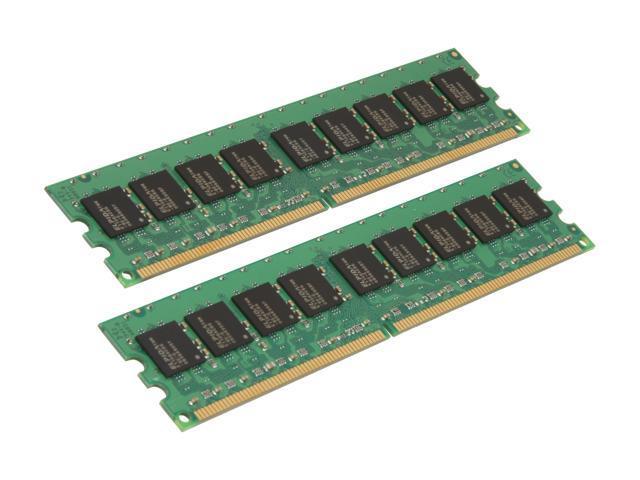 Kingston ValueRAM 4GB (2 x 2GB) 240-Pin DDR2 SDRAM ECC Unbuffered DDR2 800 (PC2 6400) Desktop Memory Model KVR800D2E6K2/4G