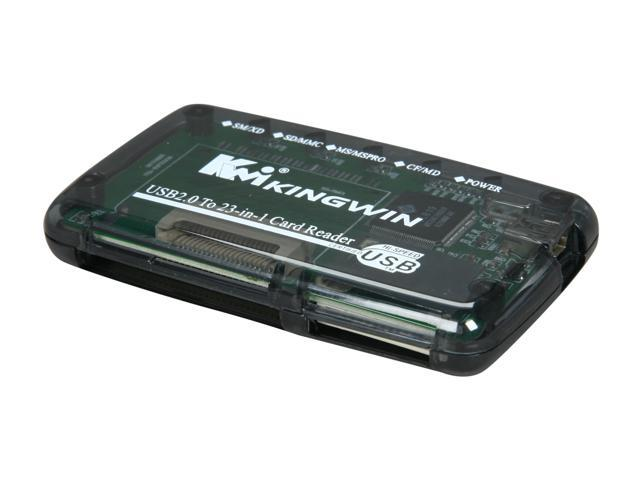 KINGWIN KWCR-506 USB 2.0  Support CF, Micro Drive, SMC, XD, T-Flash, Mini SD, SD, SDC, SD Ultra,MMC, RS-MMC, MMC II, MS MG Pro Duo, MS MG Duo,MS Duo,MS Pro.  23-in-1 Card Reader