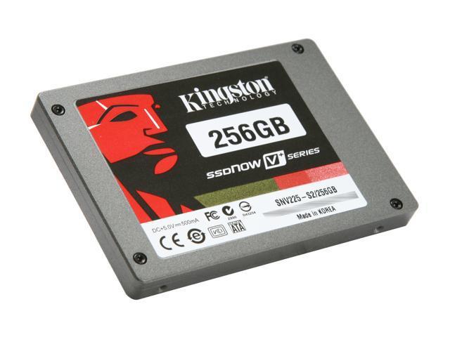 "Kingston SSDNow V+ 2.5"" 256GB SATA II MLC Internal Solid State Drive (SSD) SNV225-S2/256GB"