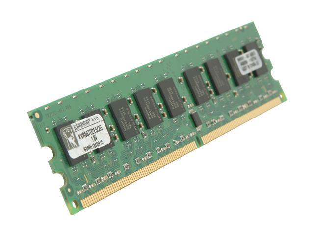 Kingston ValueRAM 2GB 240-Pin DDR2 SDRAM ECC Unbuffered DDR2 667 (PC2 5300) Server Memory Model KVR667D2E5/2G