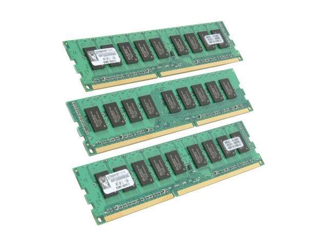 Kingston ValueRAM 6GB (3 x 2GB) 240-Pin DDR3 SDRAM ECC Unbuffered DDR3 1333 Server Memory Model KVR1333D3E9SK3/6G