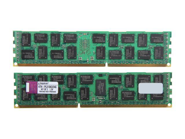 Kingston 24GB (3 x 8GB) 240-Pin DDR3 SDRAM DDR3 1333 ECC Registered System Specific Memory Kit Model KTH-PL313K3/24G