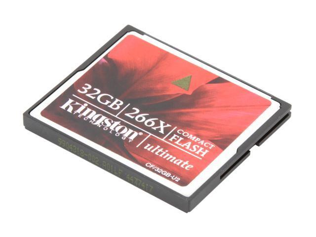 Kingston Ultimate 32GB Compact Flash (CF) 266X Flash Card Model CF/32GB-U2