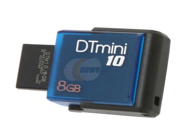 Kingston DataTraveler Mini 10 8GB USB 2.0 Flash Drive (Blue)