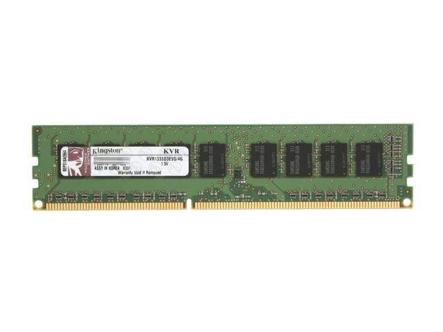 Kingston ValueRAM 4GB 240-Pin DDR3 SDRAM ECC Unbuffered DDR3 1333 Server Memory Model KVR1333D3E9S/4G