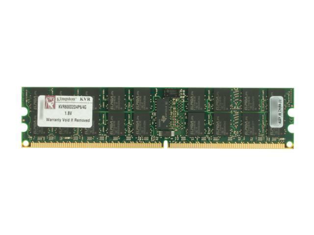Kingston 4GB 240-Pin DDR2 SDRAM ECC Registered w/Parity DDR2 800 (PC2 6400) Server Memory Model KVR800D2D4P6/4G