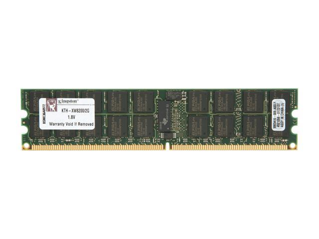 Kingston 2GB 240-Pin DDR2 SDRAM DDR2 400 (PC2 3200) ECC Registered System Specific Memory Model KTH-XW8200/2G