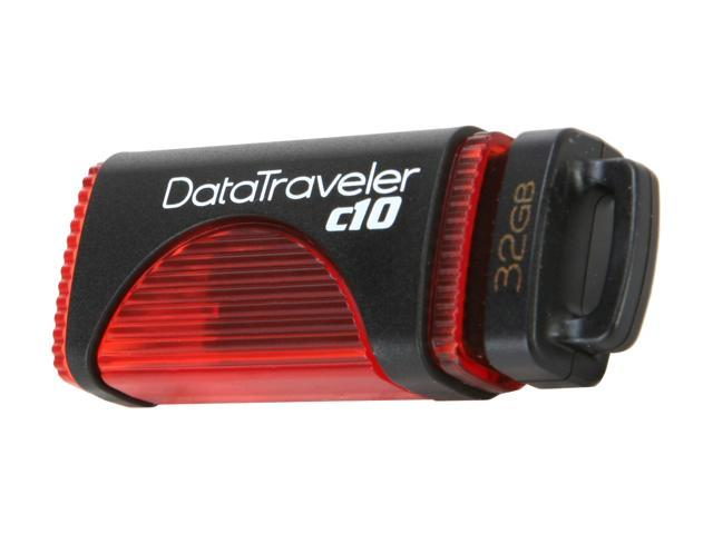 Kingston DataTraveler c10 32GB USB 2.0 Flash Drive (Red)