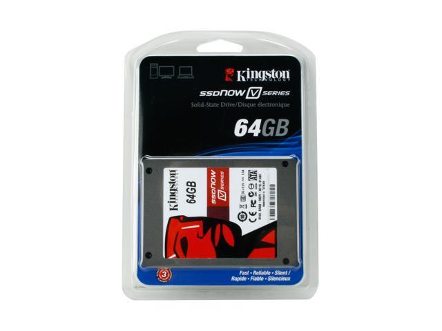"Kingston SSDNow V Series 2.5"" 64GB SATA II Internal Solid State Drive (SSD) SNV425-S2/64GB"