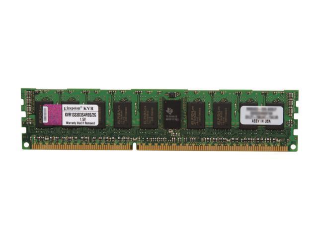 Kingston ValueRAM 2GB 240-Pin DDR3 SDRAM ECC Registered DDR3 1333 Server Memory Model KVR1333D3S4R9S/2G