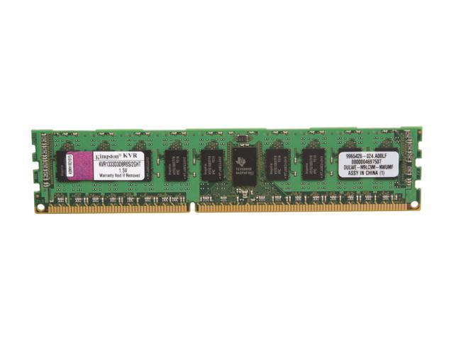 Kingston 2GB 240-Pin DDR3 SDRAM ECC Registered DDR3 1333 Server Memory Model KVR1333D3D8R9S/2GHT