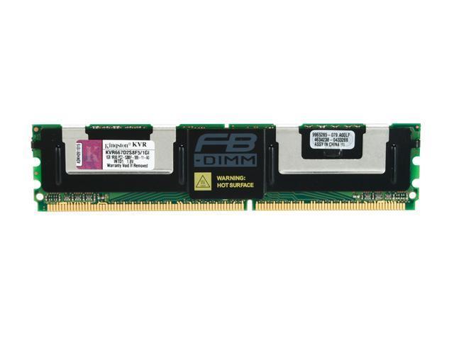 Kingston ValueRAM 1GB ECC Fully Buffered DDR2 667 Server Memory Model KVR667D2S8F5/1GI