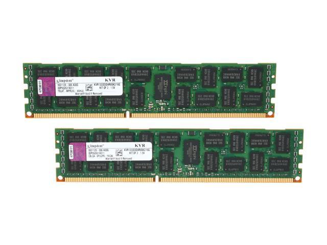 Kingston 16GB (2 x 8GB) 240-Pin DDR3 SDRAM ECC Registered DDR3 1333 (PC3 10600) Server Memory Model KVR1333D3D4R9SK2/16G