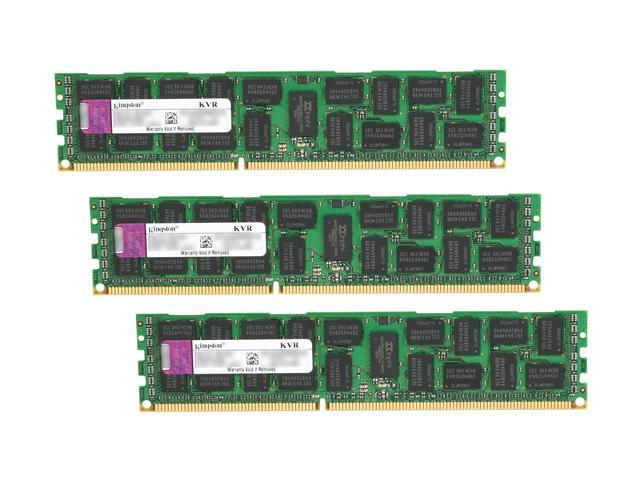 Kingston 24GB (3 x 8GB) 240-Pin DDR3 SDRAM ECC Registered DDR3 1333 (PC3 10600) Server Memory Model KVR1333D3D4R9SK3/24G