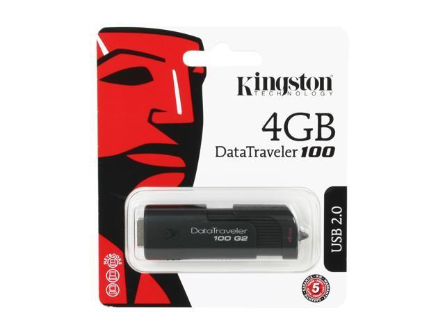 Kingston DataTraveler 100 Generation 2 4GB USB 2.0 Flash Drive Model DT100G2/4GBZ