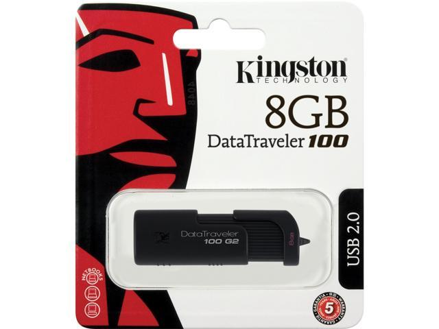 Kingston DataTraveler 100 Generation 2 8GB USB 2.0 Flash Drive Model DT100G2/8GBZ