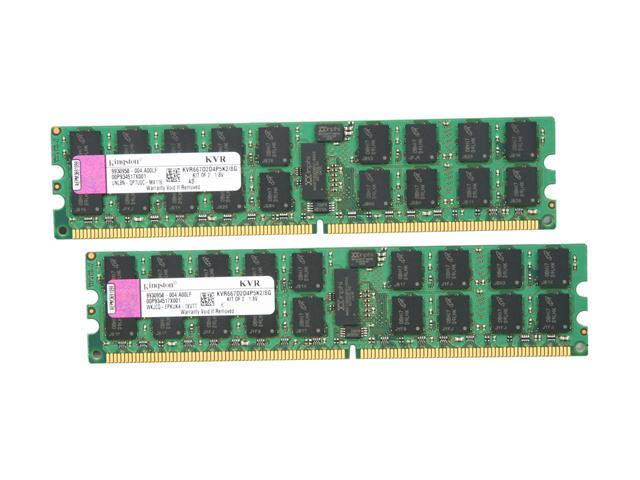 Kingston ValueRAM 8GB (2 x 4GB) 240-Pin DDR2 SDRAM ECC Registered DDR2 667 (PC2 5400) Server Memory Model KVR667D2D4P5K2/8G
