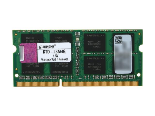 Kingston 4GB 204-Pin DDR3 SO-DIMM DDR3 1066 (PC3 8500) System Specific Memory Model KTD-L3A/4G