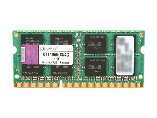 Kingston 4GB 204-Pin DDR3 SO-DIMM DDR3 1066 (PC3 8500) System Specific Memory for Toshiba Model KTT1066D3/4G