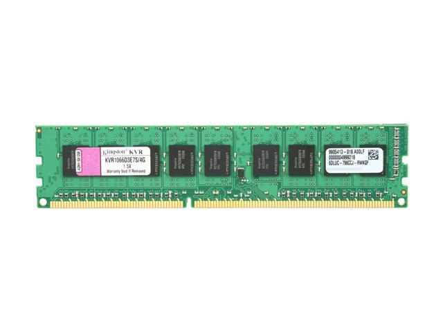 Kingston ValueRAM 4GB 240-Pin DDR3 SDRAM ECC Unbuffered DDR3 1066 (PC3 8500) Server Memory Model KVR1066D3E7S/4G