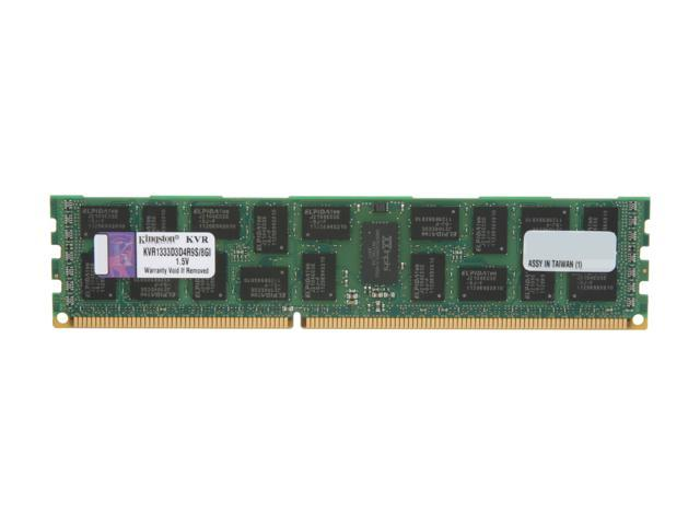 Kingston ValueRAM 8GB 240-Pin DDR3 SDRAM ECC Registered DDR3 1333 (PC3 10600) Server Memory Model KVR1333D3D4R9S/8GI