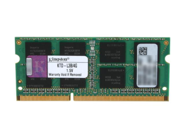 Kingston 4GB 204-Pin DDR3 SO-DIMM DDR3 1333 (PC3 10600) Unbuffered System Specific Memory Model KTD-L3B/4G