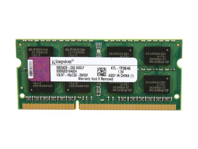 Kingston 4GB 204-Pin DDR3 SO-DIMM DDR3 1333 (PC3 10600) Unbuffered System Specific Memory for Lenovo Model KTL-TP3B/4G