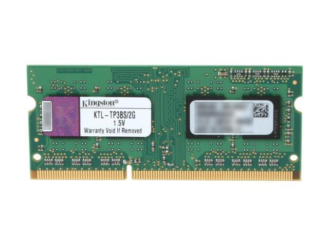 Kingston 2GB 204-Pin DDR3 SO-DIMM DDR3 1333 (PC3 10600) Registered System Specific Memory Model KTL-TP3BS/2G