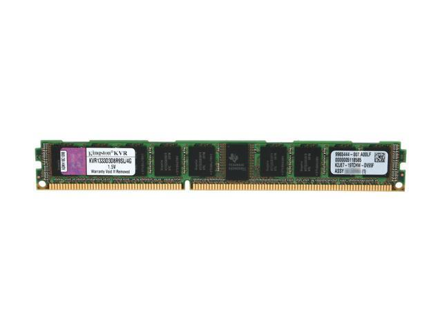 Kingston 4GB 240-Pin DDR3 SDRAM ECC Registered DDR3 1333 (PC3 10600) Server Memory Model KVR1333D3D8R9SL/4G
