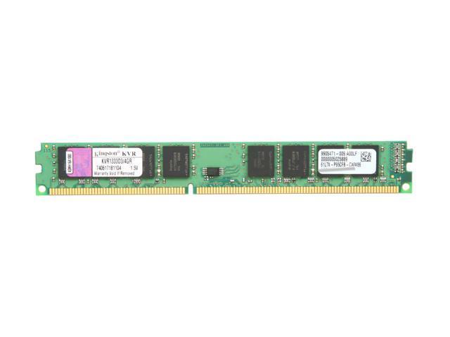 Kingston ValueRAM 4GB 240-Pin DDR3 SDRAM DDR3 1333 (PC3 10600) Desktop Memory Model KVR1333D3/4GR