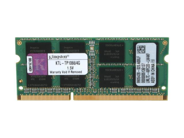 Kingston 4GB 204-Pin DDR3 SO-DIMM DDR3 1066 (PC3 8500) System Specific Memory for Lenovo Model KTL-TP1066/4G