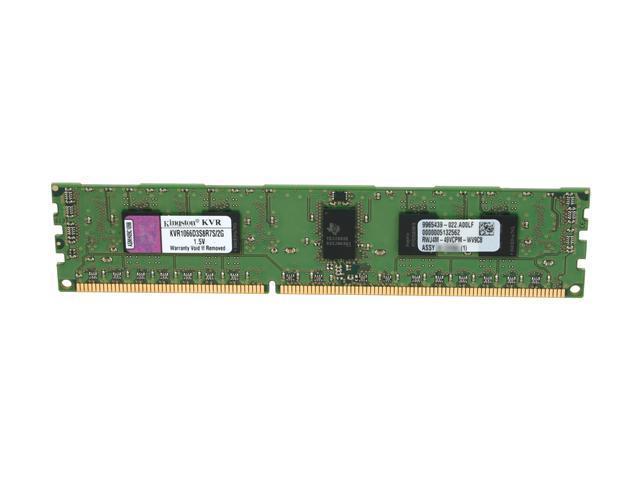 Kingston ValueRAM 2GB 240-Pin DDR3 SDRAM ECC Registered DDR3 1066 (PC3 8500) Server Memory Model KVR1066D3S8R7S/2G