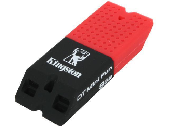 Kingston DataTraveler Mini Fun Gen 2 8GB USB 2.0 Flash Drive (Black/Red) Model DTMFG2/8GBZ
