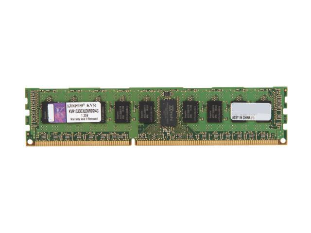 Kingston 4GB 240-Pin DDR3 SDRAM ECC Registered DDR3 1333 Server Memory DR x8 w/TS 1.35V Low Voltage Model KVR1333D3LD8R9S/4G